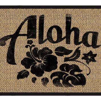 Aloha Door Mat - Welcome Mat, Entrance Mat 3 sizes