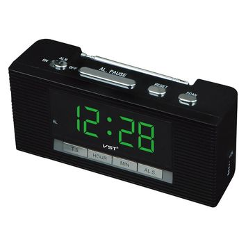 2016 Led Alarm Clock Large Display Radio Clock With Calendar Date Function Big Number Table Clocks Ac Power Desktop Clock
