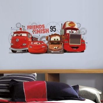 RoomMates Disney Pixar Cars 2 Friends to the Finish Peel and Stick Wall Decals
