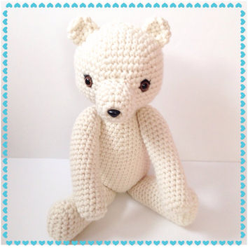Amigurumi Bear  Large Teddy Bear Crochet Bear Stuffed Animal Stuffed Toy Bear Kids Toy Kawaii Plush Holiday Gift Ideas Made to Order