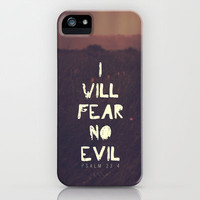 I will fear no evil - Ps 23:4  iPhone Case by Pocket Fuel