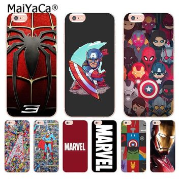 MaiYaCa Deadpool iron Man Marvel Avengers KingKong Star Wars hot Cool Phone Case for iPhone 8 7 6S Plus X 5S SE 5C 4 case Coque