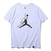 Fendi Fashion New Bust Dice Letter Print Women Men Leisure Top T-Shirt White