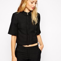 Warehouse | Warehouse Croc Effect Top at ASOS