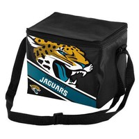 NFL Jacksonville Jaguars  Big Logo Striped 6pack Cooler Lunch Box Bag Insulated
