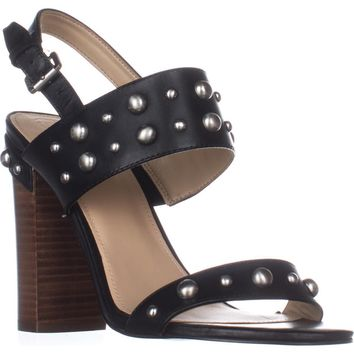 GUESS Cheree2 Studded City Sandals, Black, 8.5 US