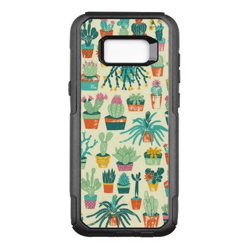 Colorful Cactus Flower Pattern OtterBox Commuter Samsung Galaxy S8+ Case