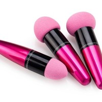 3pc Set Pink Liquid Cream Foundation Makeup Blender Sponge Brushes by Cheeky®: Amazon.ca: Beauty