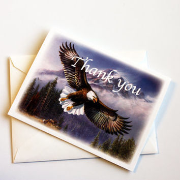 Set of 6 Eagle Mountain Thank You Cards Thank You Notes