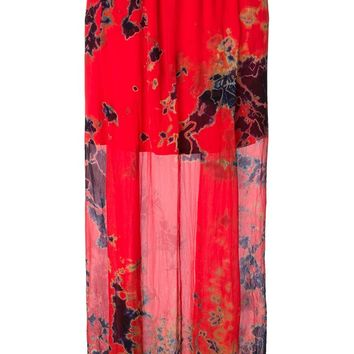 Raquel Allegra long tie-dye skirt