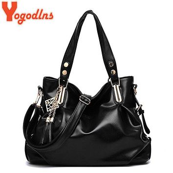 Yogodlns 2017 Hot Selling Quality PU Leather Tassel Bag Shoulder Bags Women Messenger Bags Women Handbag Women Leather Handbags