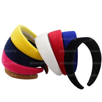 Hot 4 CM Wide 2016 New Solid Color Velvet Plastic Hairband Headwear Brief Fashion Girls Women Headband Lovely Hair Accessories
