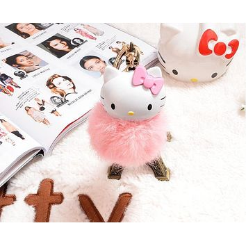 Super Kawaii NEW Cat Plush Toy Doll 14CM Key Chain Hook Pendant Plush Toy Doll , Fluffy Cat TOY