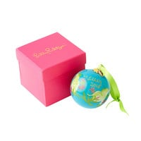Lilly Pulitzer Glass Christmas Ornament
