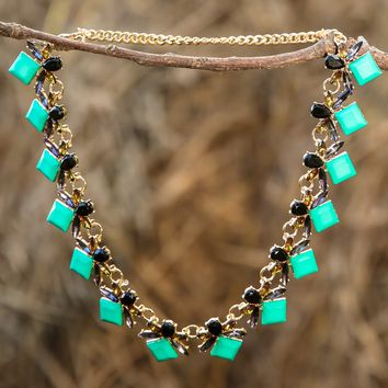 Can't Fight This Feeling Necklace-Spearmint