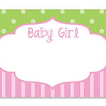 Baby Girl Frame Blank Note Card
