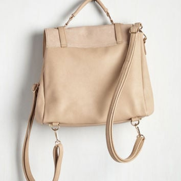 Stop, Rock, and Roll Convertible Bag in Latte