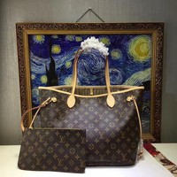 Louis Vuitton Lv Monogram Leather Handbag Shoulder Bag #16681 - Best Deal Online