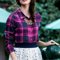 WILDBRIAR PLAID BLOUSE