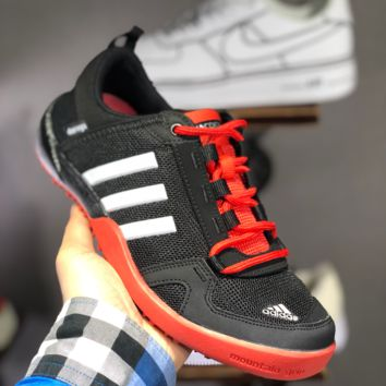 hcxx A1495 Adidas Climacool Daroga Two 3 Retro Hollow Wading shoes Black Red