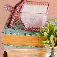Grapefruit Mimosa Pressed Glass Candle