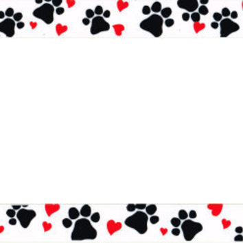 Paws Hearts License Plate Frame