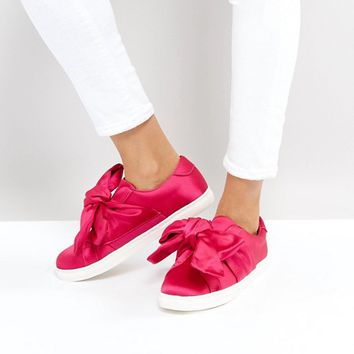 Stradivarius Bow Slip On Shoes at asos.com