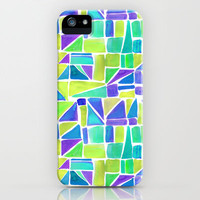 Watercolour Shapes Lemon iPhone Case by Amy Sia | Society6