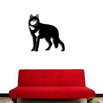 Wall Sticker Wolf Animal Symbol of Freedom Cool Decor for Living Room  Unique Gift z1340