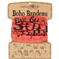 Boho Bandeau - Coral & Purple Live by the Sun