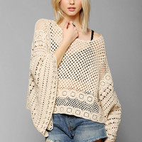 Pins And Needles Crochet Poncho Sweater - Urban Outfitters