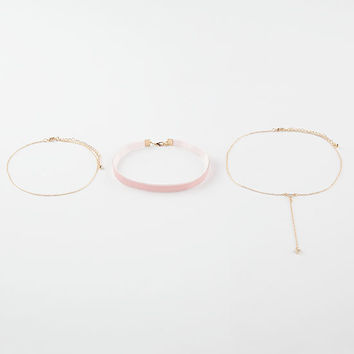 FULL TILT 3 Pack Layered Triangle Chokers | Necklaces