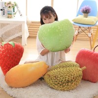 Home Decor Plush Toys 3D Creative Simulation Of Fruit And Vegetable Food Cabbage Pillow Floor Cushions Sofa Cushions