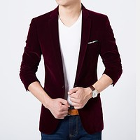 Mens blazer high quality suit jacket