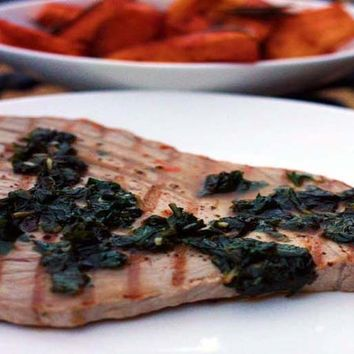 Recipes - Fresh Tuna Steaks in a Minty Sauce