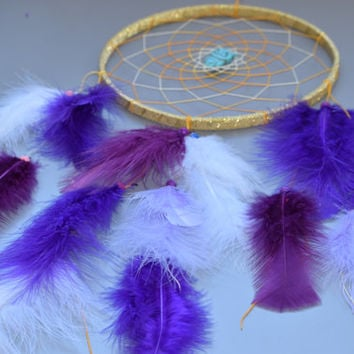 Large Dreamcatcher, Purple Dream catcher, Boho Dreamcatcher, Wall hanging Dreamcatcher, Bohemian Decor.