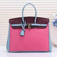 Hermes Women Fashion Leather Handbag Tote Shoulder Bag Satchel