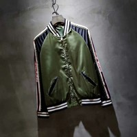 Gucci  2018 early autumn when series. Spell Ribbon Limited Jacket !
