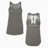 Daryl Dixon Angel Wings on Alternative - Ladies' Meegs Eco-Jersey Racerback Tank