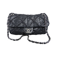 Chanel 10A Black Ultrastitch Flap Bag
