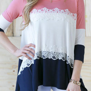Cupshe Cheer Up Color-blocked Top