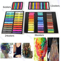 Easy Temporary Colors Non-toxic Hair Chalk Dye Soft Hair Pastels Kit