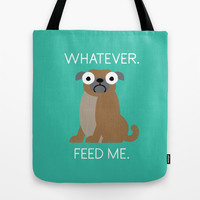 The Pugly Truth Tote Bag by David Olenick