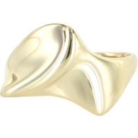 Vintage Retro 14 Karat Yellow Gold Sculptural Band Ring Estate Fine Jewelry 6.5 6 1/2