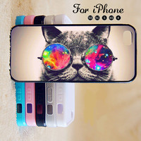 Cat,Sunglass,iPhone 5 case,iPhone 5C Case,iPhone 5S Case, Phone case,iPhone 4 Case, iPhone 4S Case,Case-IP002