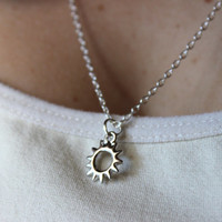 Tiny Sun Silver Necklace