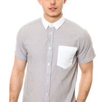 The Randy Buttondown Shirt in Silver Sconce