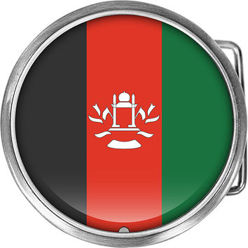 Afghanistan Flag Belt Buckle