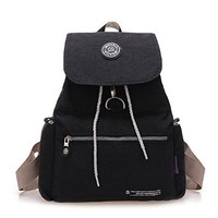 Washed Casual Canvas Travel School College Backpack For Girls/Students/Women