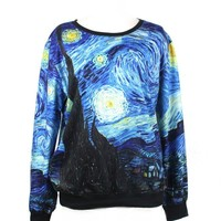 LoveLiness Fashion Sweatshirts Women's Neon Print Sweatshirt